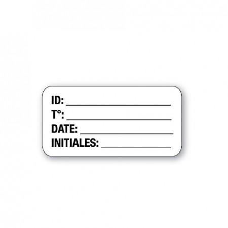 ID /  T° / DATE / INITIALES