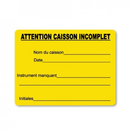 ATTENTION CAISSON INCOMPLET