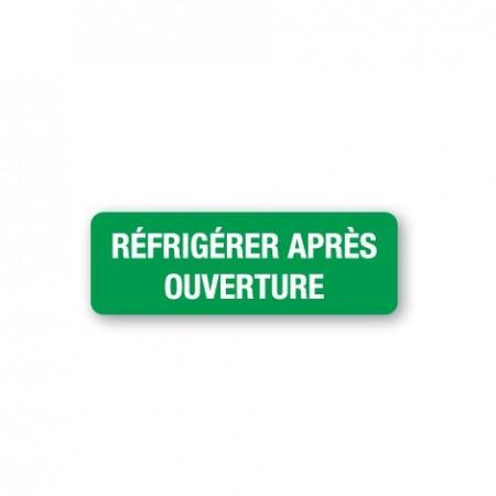 RÉFRIGÉRER APRÈS OUVERTURE