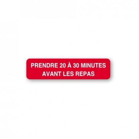 PRENDRE 20 À 30 MINUTES AVANT LES REPAS