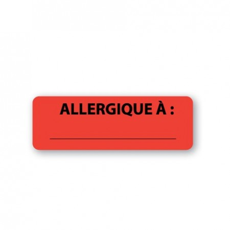 ALLERGIQUE À : _______________