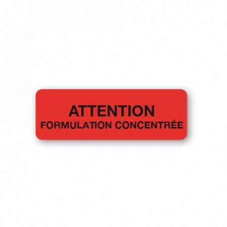 ATTENTION - FORMULATION CONCENTRÉE