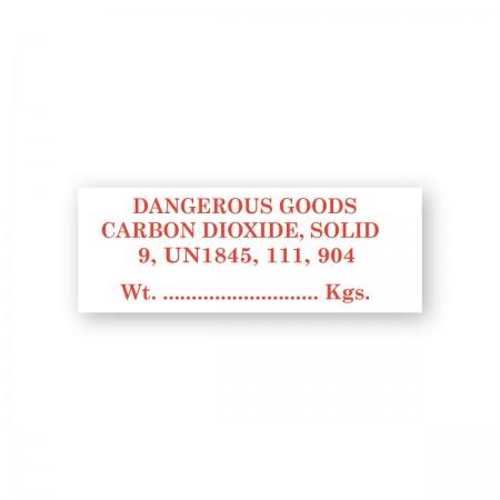 DANGEROUS GOODS - CARBON DIOXIDE, SOLID
