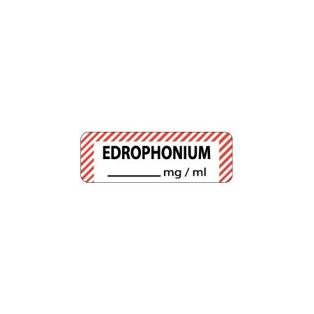 Edrophonium mg/ml