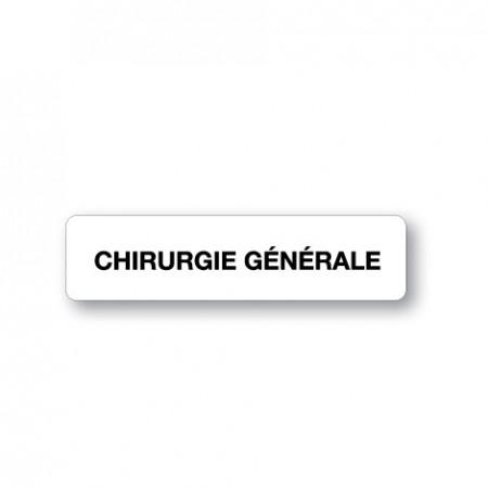 CHIRURGIE GÉNÉRALE