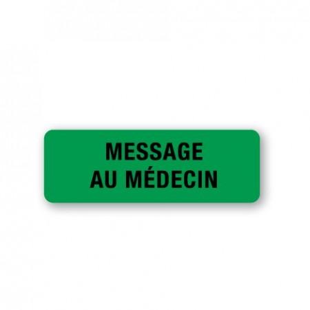 MESSAGE AU MÉDECIN
