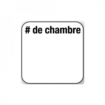 NO DE CHAMBRE