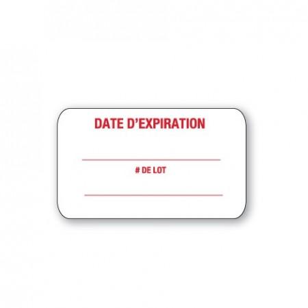 DATE D'EXPIRATION / NO DE LOT