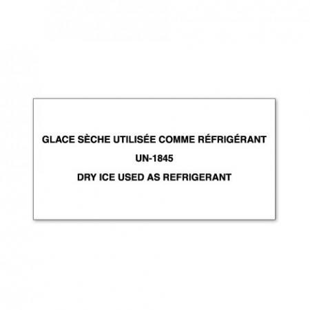 GLACE SÈCHE UTILISÉE COMME RÉFRIGÉRANT