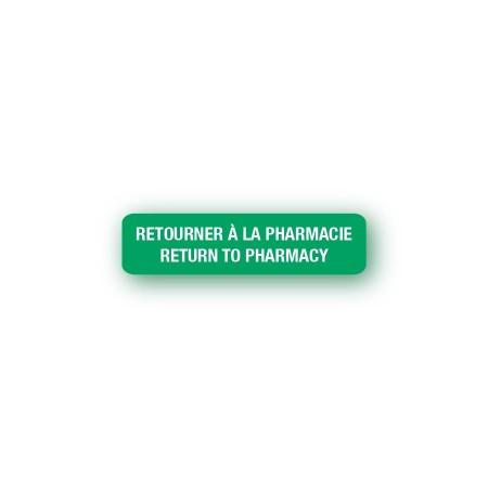 RETOURNER À LA PHARMACIE - RETURN TO PHARMACY
