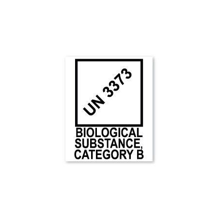 UN 3373 - BIOLOGICAL SUBSTANCE CATEGORY B
