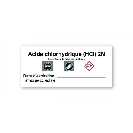 ACIDE CHLORHYDRIQUE (HCl) 2N