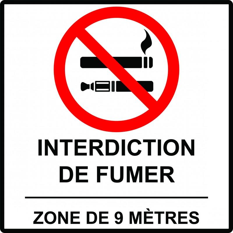 interdiction de fumer 9 m tres trelco. Black Bedroom Furniture Sets. Home Design Ideas