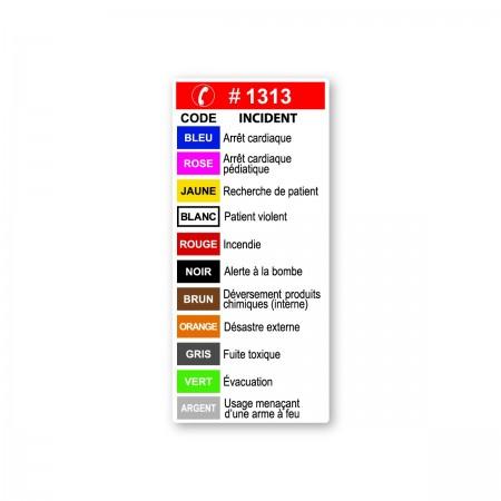 1313  CODES TÉLÉPHONIQUES -- URGENCES