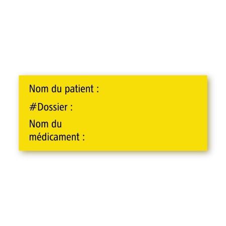 NOM DU PATIENT / NO DE DOSSIER