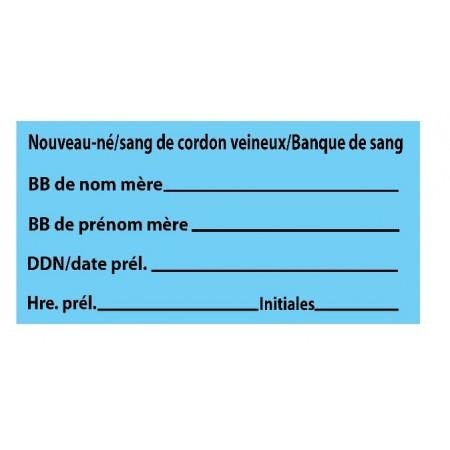 NOUVEAU-NÉ / SANG DE CORDON VEINEUX / BANQUE DE SANG