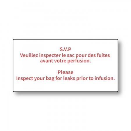 SVP Veuillez inspecter le sac - Please Inspect your bag