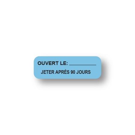 OUVERT LE:__ / JETER APRÈS 90 JOURS