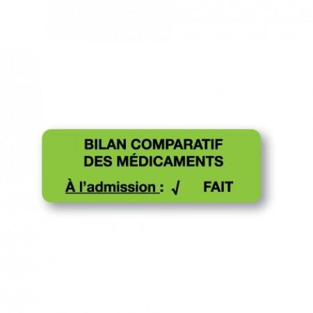 BILAN COMPARATIF DES MÉDICAMENTS FAIT