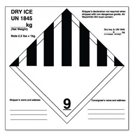 DRY ICE UN 1845 - 9
