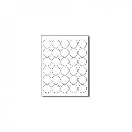 Feuille pour imprimante laser - 30 étiquettes rondes
