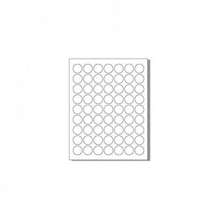 Feuille pour imprimante laser - 63 étiquettes rondes