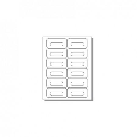 Feuille pour imprimante laser - 12 étiquettes