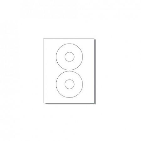 Feuille pour imprimante laser - 2 étiquettes rondes