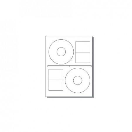 Feuille pour imprimante laser - 6 étiquettes CD
