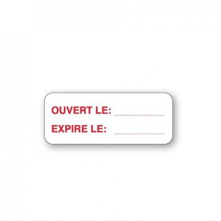 OUVERT LE / EXPIRE LE