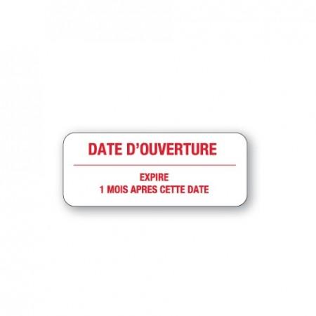 DATE D'OUVERTURE / EXPIRE 1 MOIS APRÈS CETTE DATE