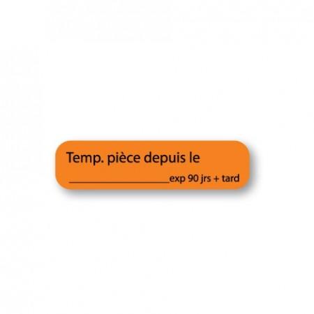 TEMP. PIÈCE DEPUIS LE :