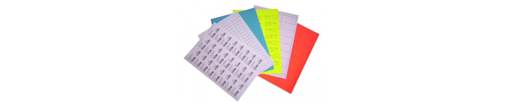 Étiquettes sur feuille 8 1/2 x 14